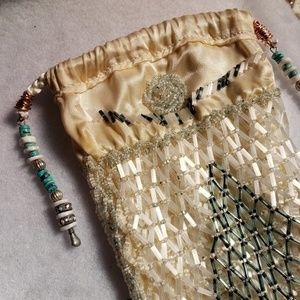 Beaded sheath evening bag hand crafted
